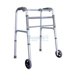 โครงเหล็กช่วยเดิน (WALKER FRAME) ที่หัดเดินโครงอลูมิเนียมมีล้อ-Walker