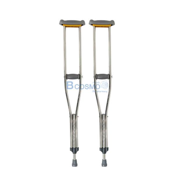 EW0102-L-P-5376-ไม้เท้าค้ำยันอลูมิเนียม-2B-SIZE-L ไม้ค้ำยันอลูมิเนียม ขนาด L 1 คู่