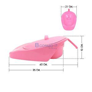 หม้อนอน JC881-W สีชมพูมีฝาปิด