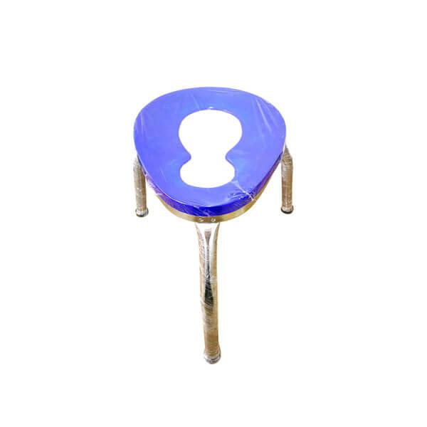 ET0105-M เก้าอี้นั่งถ่าย 3 ขา ขนาดใหญ่ สีน้ำเงินสูง 40cm.
