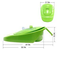 หม้อนอน JC881-W มีฝาปิด สีเขียว