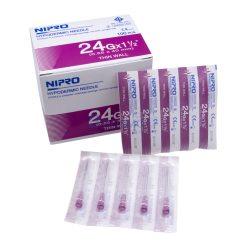 [1 กล่อง 100 ชิ้น] เข็มฉีดยา ยี่ห้อ นิโปร เบอร์ 24 X 1.5″