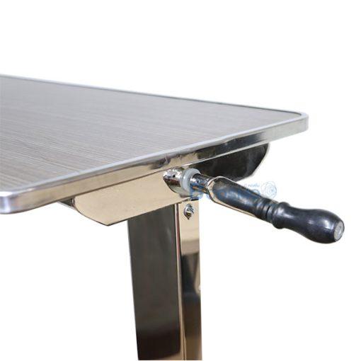 EB0001-D-โต๊ะคร่อมเตียง-หน้าไม้โฟเมก้า-ขอบสแตนเลส-สีเข้ม