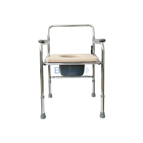 P-411,เก้าอี้นั่งถ่าย,อุปกรณ์ห้องน้ำ,เก้าอี้นั่งถ่ายเหล็กชุบโครเมี่ยม