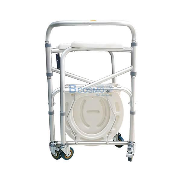 เก้าอี้นั่งถ่าย,ถ่ายพับได้,เก้าอี้นั่งถ่ายอลูมิเนียมมีล้อ พับได้ Y615L