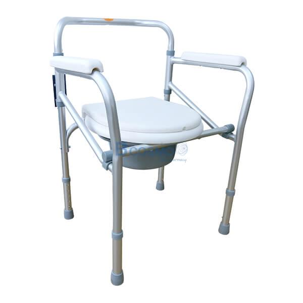 P-6615-เก้าอี้นั่งถ่ายพับได้อลูมิเนียมไม่มีล้อ-Y616L-1-1 เก้าอี้นั่งถ่ายพับได้อลูมิเนียมไม่มีล้อ Y616L