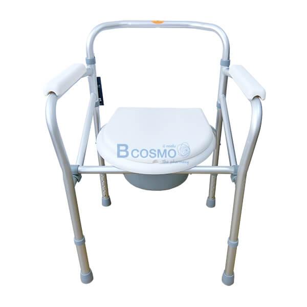 P-6615-เก้าอี้นั่งถ่ายพับได้อลูมิเนียมไม่มีล้อ-Y616L-2 เก้าอี้นั่งถ่ายพับได้อลูมิเนียมไม่มีล้อ Y616L