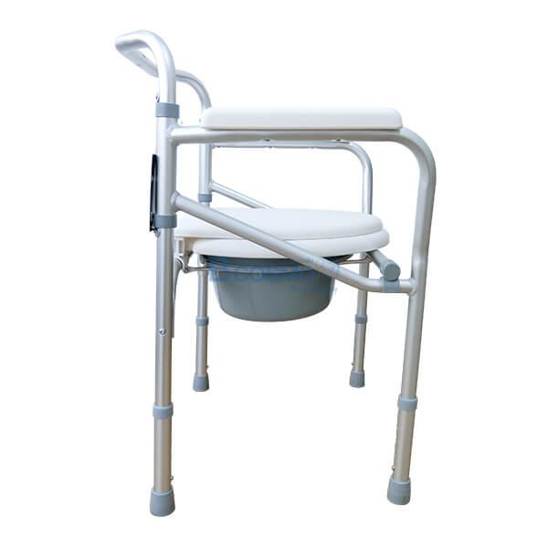P-6615-เก้าอี้นั่งถ่ายพับได้อลูมิเนียมไม่มีล้อ-Y616L-3-1 เก้าอี้นั่งถ่ายพับได้อลูมิเนียมไม่มีล้อ Y616L