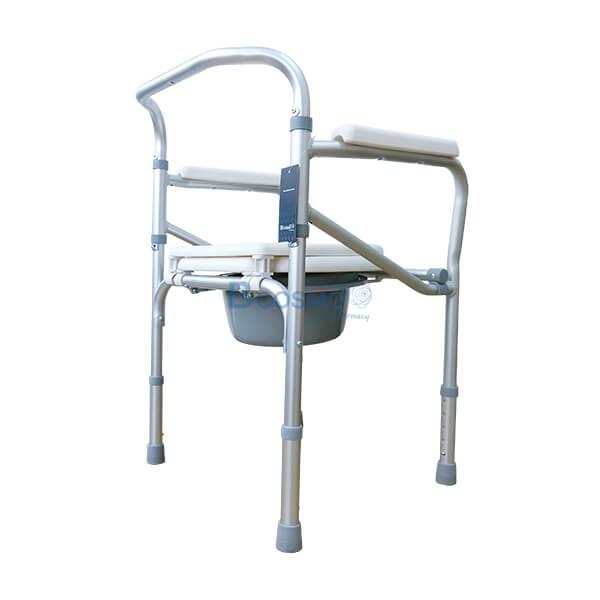 P-6615-เก้าอี้นั่งถ่ายพับได้อลูมิเนียมไม่มีล้อ-Y616L-4-1 เก้าอี้นั่งถ่ายพับได้อลูมิเนียมไม่มีล้อ Y616L