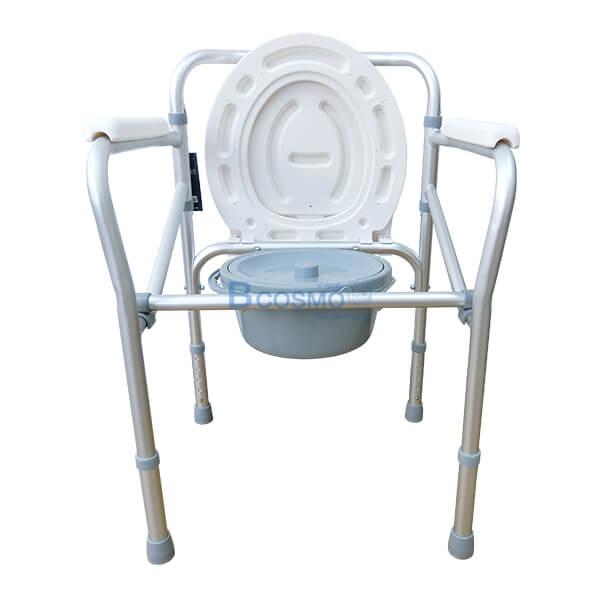 P-6615-เก้าอี้นั่งถ่ายพับได้อลูมิเนียมไม่มีล้อ-Y616L-8-1 เก้าอี้นั่งถ่ายพับได้อลูมิเนียมไม่มีล้อ Y616L