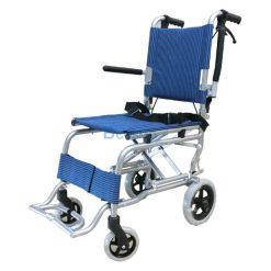 รถเข็นพับได้ ทำจากอลูมิเนียม Mini 2 สีน้ำเงิน (แถมกระเป๋า)