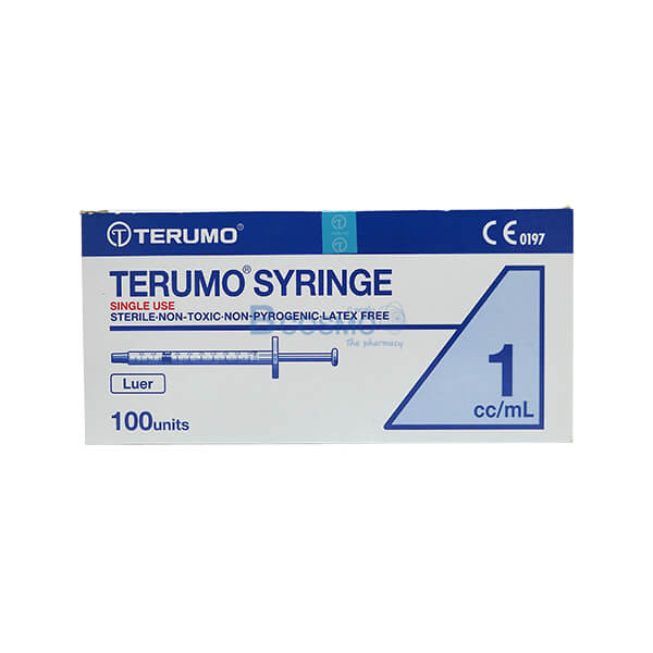 P-6639 - ไซริงค์ SYRINGE TERUMO 1ML. 100 ชิ้น