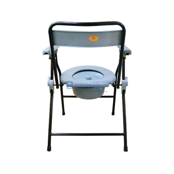 P-6697-เก้าอี้นั่งถ่ายพลาสติก-โครงเหล็ก-Triple-Y-สีดำ-10-1 เก้าอี้นั่งถ่ายพลาสติก โครงเหล็ก สีดำ