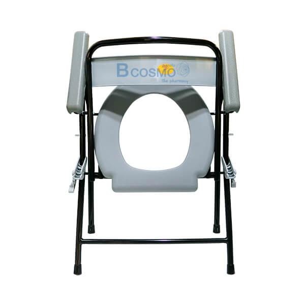 P-6697-เก้าอี้นั่งถ่ายพลาสติก-โครงเหล็ก-Triple-Y-สีดำ-12-1 เก้าอี้นั่งถ่ายพลาสติก โครงเหล็ก สีดำ