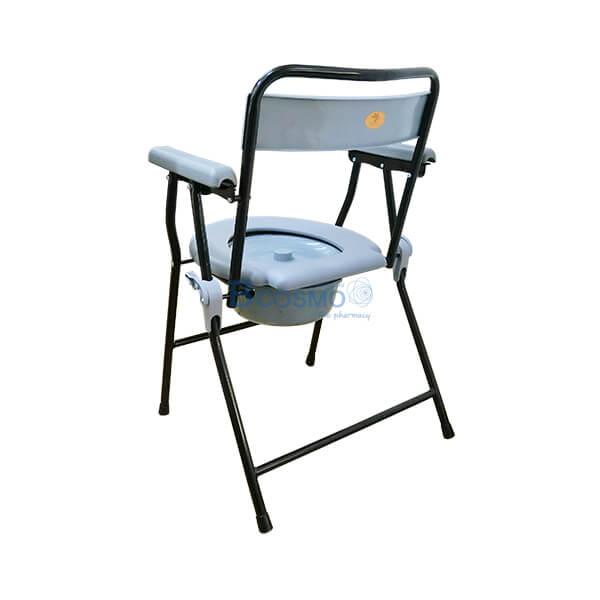 P-6697-เก้าอี้นั่งถ่ายพลาสติก-โครงเหล็ก-Triple-Y-สีดำ-9-1 เก้าอี้นั่งถ่ายพลาสติก โครงเหล็ก สีดำ