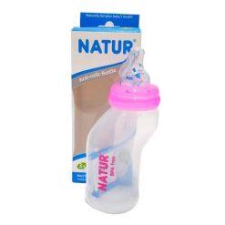 ขวดนมทรงสุขภาพ 4oz NATUR ชมพู ยี่ห้อ Natur