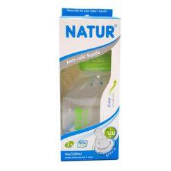 ขวดนมทรงสุขภาพ 4oz NATUR เขียว ยี่ห้อ Natur
