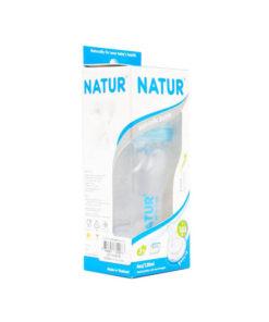 ขวดนมทรงสุขภาพ 4oz NATUR ฟ้า ยี่ห้อ Natur