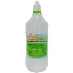 [1 ลัง 12 ขวด] น้ำเกลือ Klean&Kare 1000 ml.