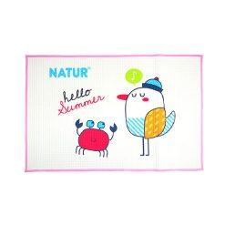 ผ้ายางธรรมชาติรองนอน NATUR SIZE 60*90 cm. ชมพู ยี่ห้อ NATUR