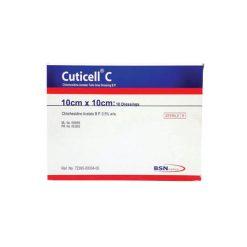 แผ่นแปะกันแผลติด CUTICELL®C (CHLORHEXIDINE GRAS DRESSING) 10 X 10 CM.
