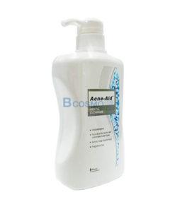 ACNE-AID GENTAL CLEANSER แอคเน่-เอดเจนเทิลคลีนเซอร์ 500ML. (สีฟ้า)