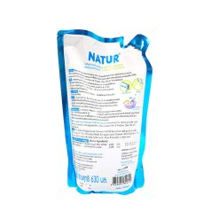 NATUR ผลิตภัณฑ์ล้างขวดนมและจุกนม 630 มล. (ชนิดถุงรีฟิล)