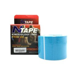 NTAPE KINESIOLOGY TAPE SPORT TAPE เทปพยุงกล้ามเนื้อ เทปบำบัด SIZE 5 CM. ×5 MM.(สีฟ้า)