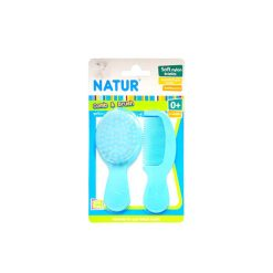 Natur Smile ชุดหวีแปรง NATUR สีฟ้า