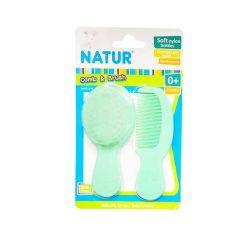 Natur Smile ชุดหวีแปรง NATUR สีเขียว