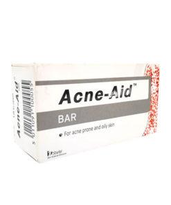 ACNE-AID BAR 100G. แอคเน่เอด สบู่ทำความสะอาดผิวหน้าและผิวกาย