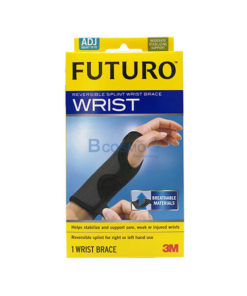FUTURO Reversible Splint Wrist Brace อุปกรณ์พยุงข้อมือ ปรับกระชับได้ เสริมแถบเหล็ก สีดำ FREESIZE