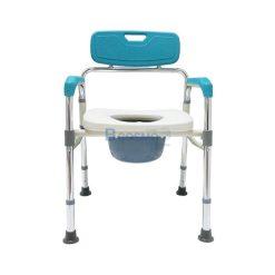 เก้าอี้นั่งถ่ายพลาสติก พับเก็บได้ HOSPRO H-CM716 สีฟ้า