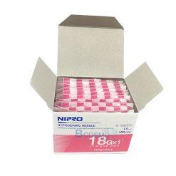 เข็มฉีดยา NIPRO 18 X 1 นิ้ว [100 ชิ้น/กล่อง]