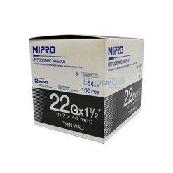 เข็มฉีดยา NIPRO 22Gx1 1/2นิ้ว 100 ชิ้น