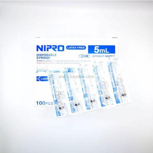 ไซริงค์ SYRINGE NIPRO 5 ML. 100 ชิ้น
