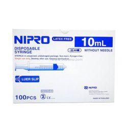 [ 1 ลัง 10 กล่อง] ไซริงค์ SYRINGE NIPRO 10 ML. 100 ชิ้น/กล่อง