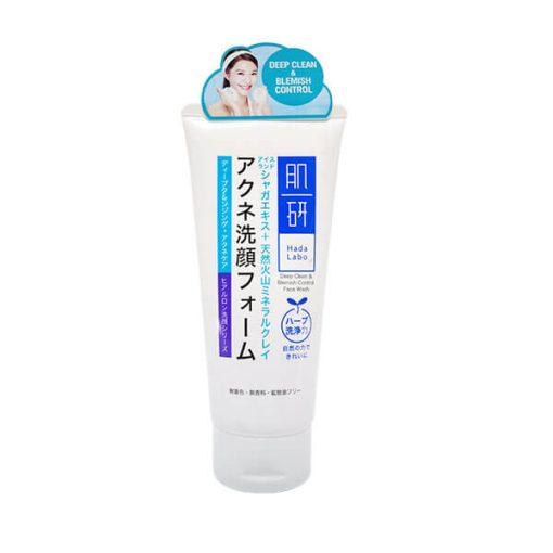 Hada Labo Deep clean and blemish control face wash ดีพคลีน แอนด์ เบลมมิช เฟสวอช 100 กรัม