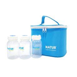 เนเจอร์ กระเป๋าเก็บอุณหภูมิพร้อมขวดเก็บน้ำนม NATUR