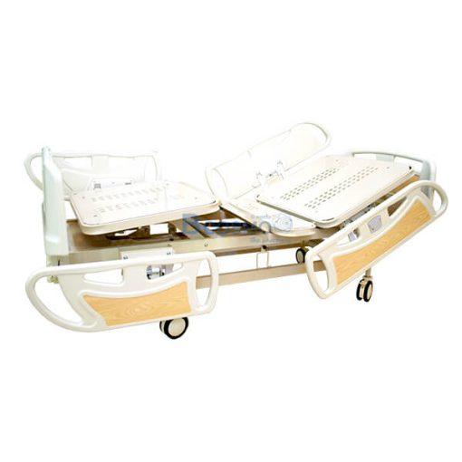 เตียงผู้ป่วย มือหมุน 3 ไกร์ ปีกนก รุ่น UQ 2017MS พร้อมเบาะนอน 4 ตอน