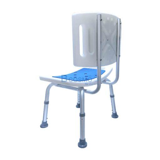 เก้าอี้นั่งอาบน้ำ มีพนักพิงใหญ่นิ่ม Y7982L สีฟ้า