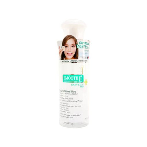 SMOOTH E MAKEUP CLEANSING WATER 200ML.