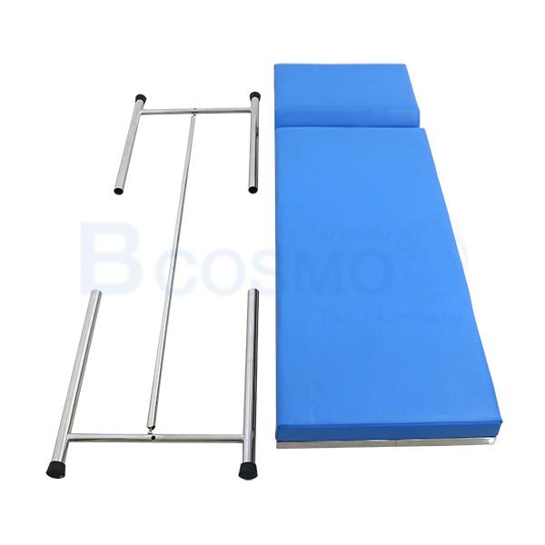 -สแตนเลส-โครงเหลี่ยม-MT0801-3 เตียงตรวจโรคสแตนเลส (โครงเหลี่ยม) 60x200x80 cm.
