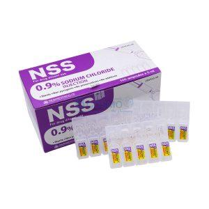 น้ำเกลือชนิดฉีด NSS 0.9% Sodium chloride 5 ml 1 ซอง บรรจุ 5 หลอด
