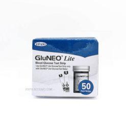 แผ่นตรวจวัดระดับน้ำตาลในเลือด GLUNEO LITE TEST STRIP 50 ชิ้น