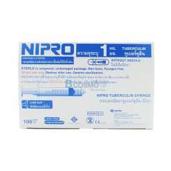 ไซริงค์ SYRINGE NIPRO 1 ML. 100 ชิ้น