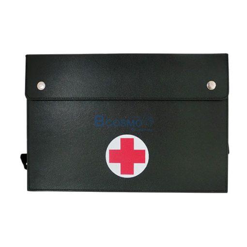 P-6807 - กระเป๋าปฐมพยาบาลแบบสะพายเล็ก ขนาด 6x12x8.5 นิ้ว สีดำ