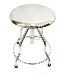 เก้าอี้กลมตรวจโรค สแตนเลส ไม่มีล้อ