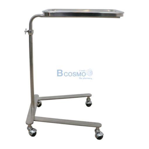 P-6817 - โต๊ะเมโยวางเครื่องมือแพทย์ (Mayo Stand) 4 ล้อ พร้อมถาด-30