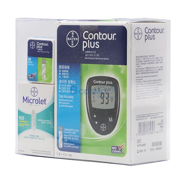 P-6839-ชุดเครื่องตรวจน้ำตาลในเลือด-Bayer-Contour-Plus-2 ชุดเครื่องตรวจน้ำตาลในเลือด Bayer Contour Plus
